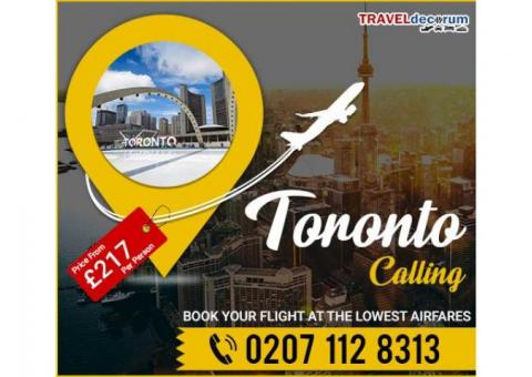 Book Cheap Flights to Toronto from London and Flights London To Toronto