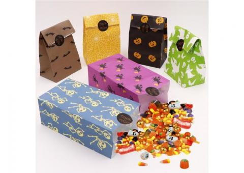 24pcs Halloween Paper Gift Bags Party Treat Bags Party Favour Goody Bag