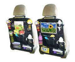 "Car Backseat Organizer Kick Mats with Touch Screen 10"" Tablet Holder & 8 Storage Pockets Back Seat"