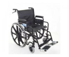 Z-Tec Folding Heavy Duty Extra Wide Steel Wheelchair