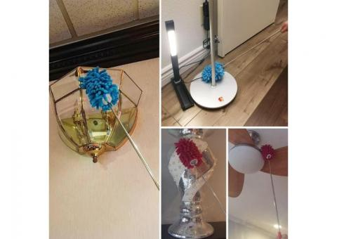 Microfiber Extendable Hand Dusters Washable Dusting Brush with Telescoping Pole