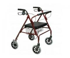 Heavy Duty Rollator in Blue or Red