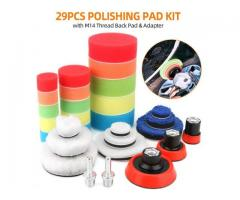 Polishing Pads for Drill 29pcs Sponge Wool Polishing Waxing Buffing Pads Kit
