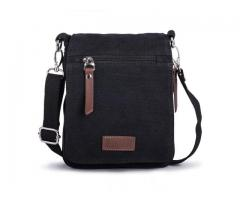 Small Men's Bag, Mini Shoulder Bag Messenger Bag Shoulder Travel Bag also with Belt Bow, Fits iPad M