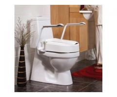 Etac Hi-Loo II Fixed Raised Toilet Seat with Armrests