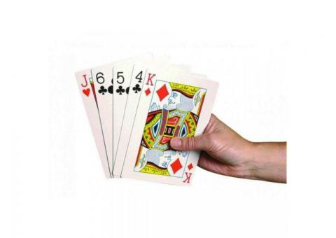 Games For Elderly, Large Playing Cards & Playing Card Holder