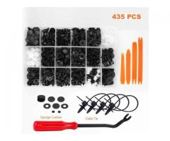 435 Pcs Car Retainer Clips Plastic Fasteners Kit Auto Door Panel Trim Clip