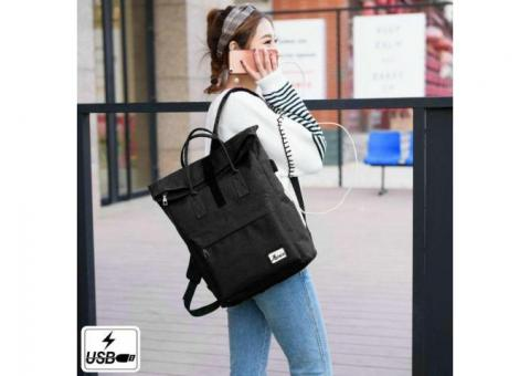 Laptop Backpack Business Bag with USB Charging Port Slim Travel Lightweight Bags