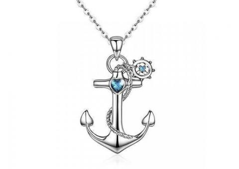 Anchor Necklace Valentine Gifts Necklaces Jewellery for Women Girls Pendant