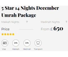 Cheapest December Umrah Packages