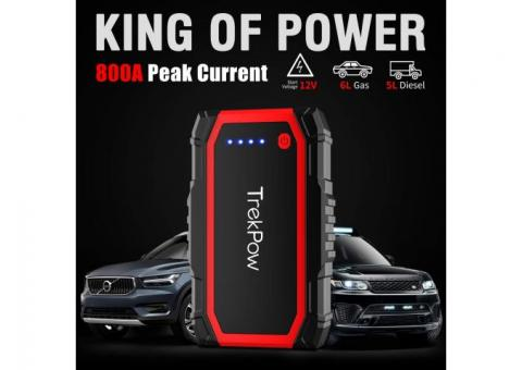 Jump Starter Pack Portable Lithium Car Battery Booster Mini Power Bank 8000mah